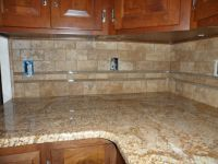25+ best ideas about Travertine tile backsplash on ...