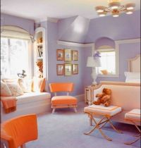 creamsicle and lavender girls bedroom! Shelby would love ...