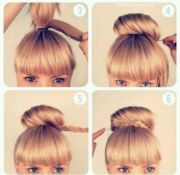 high bun hairstyles step