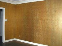 Background wall finish is done with 3 metallic acrylic ...