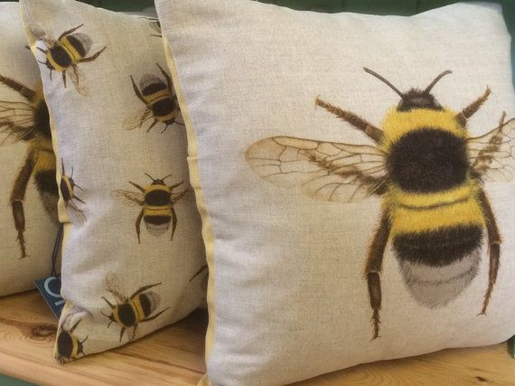 Bee Cushion  Cute bee The feathers and Bumble bees