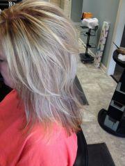 short grey hair with highlights