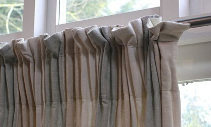 Informal Curtain On Deep Pinch Pleat Tape Curtain Styles Pinterest Tape On And Curtains