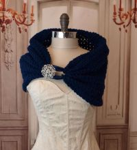 Navy Blue Wedding Shawl Bridesmaids Shawl With Rhinestone ...