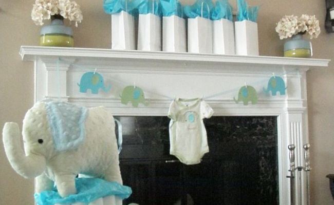 17 Best Images About Blue Elephant Themed Baby Shower On