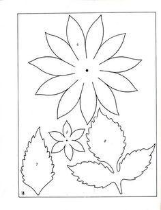 102 best 3-D flower petal patterns images on Pinterest