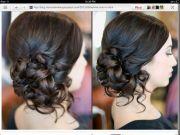 curled side bun - formal updos