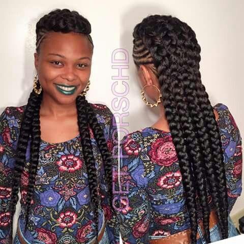 Unique Braided Mohawk Hair OMG Pinterest Braids
