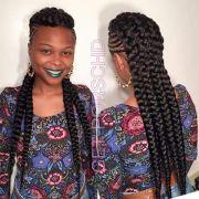 unique braided mohawk hair omg