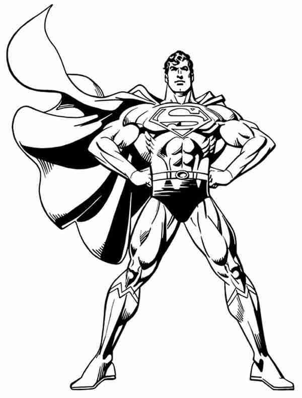man of steel coloring pages Man of Steel Coloring Pages