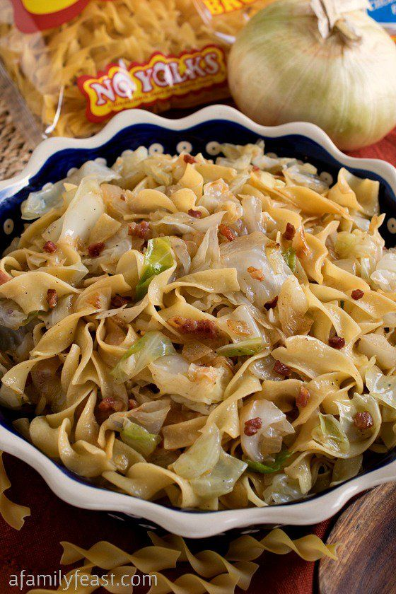 Haluski – A simple,rustic and traditional dish made with fried cabbage and noodles. Pure, delicious comfort food!