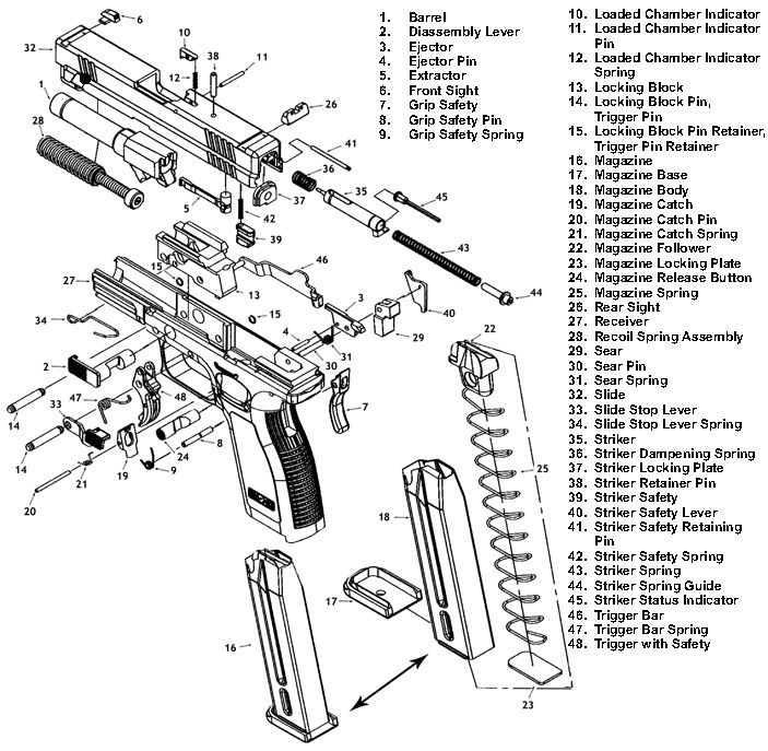 glock parts exploded view diagram