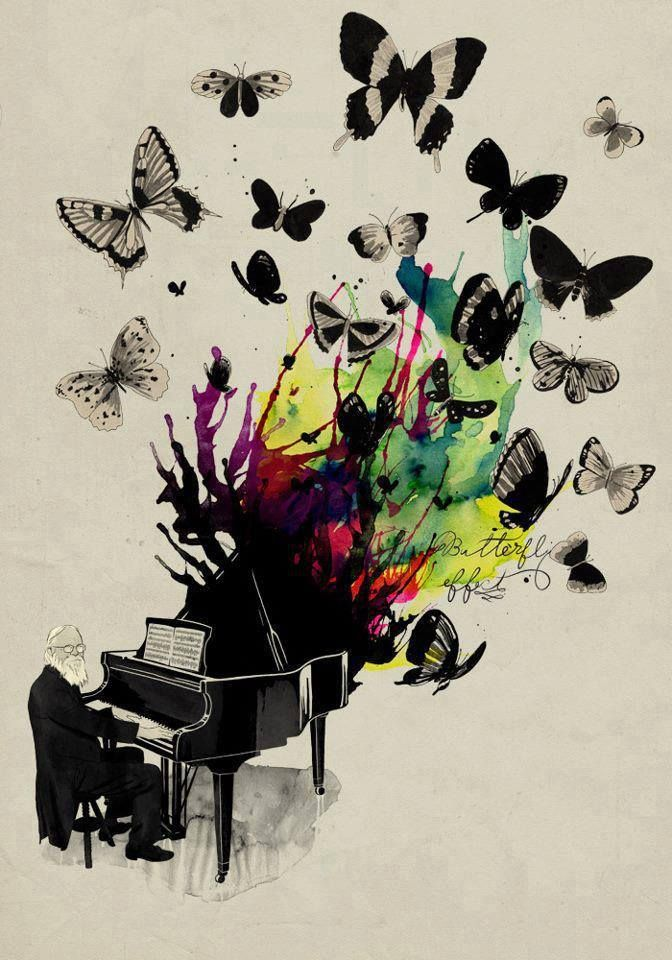 butterfly piano abstract art  Inspiration