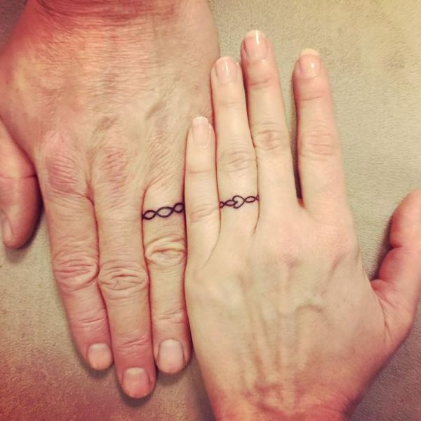 Couple Ring Finger Tattoo Ideas