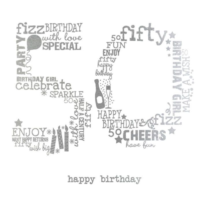 78 Best ideas about 50th Birthday Cards on Pinterest