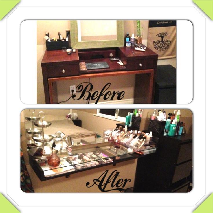 Makeup vanity DIY Before and after  Vanity  Pinterest
