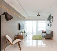 Cozy modern minimalist styled Punggol Walk HDB apartment ...
