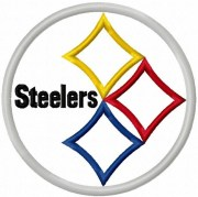 steelers applique machine embroidery