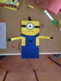 Minion paper bag puppet! | Arts and Crafts | Pinterest ...