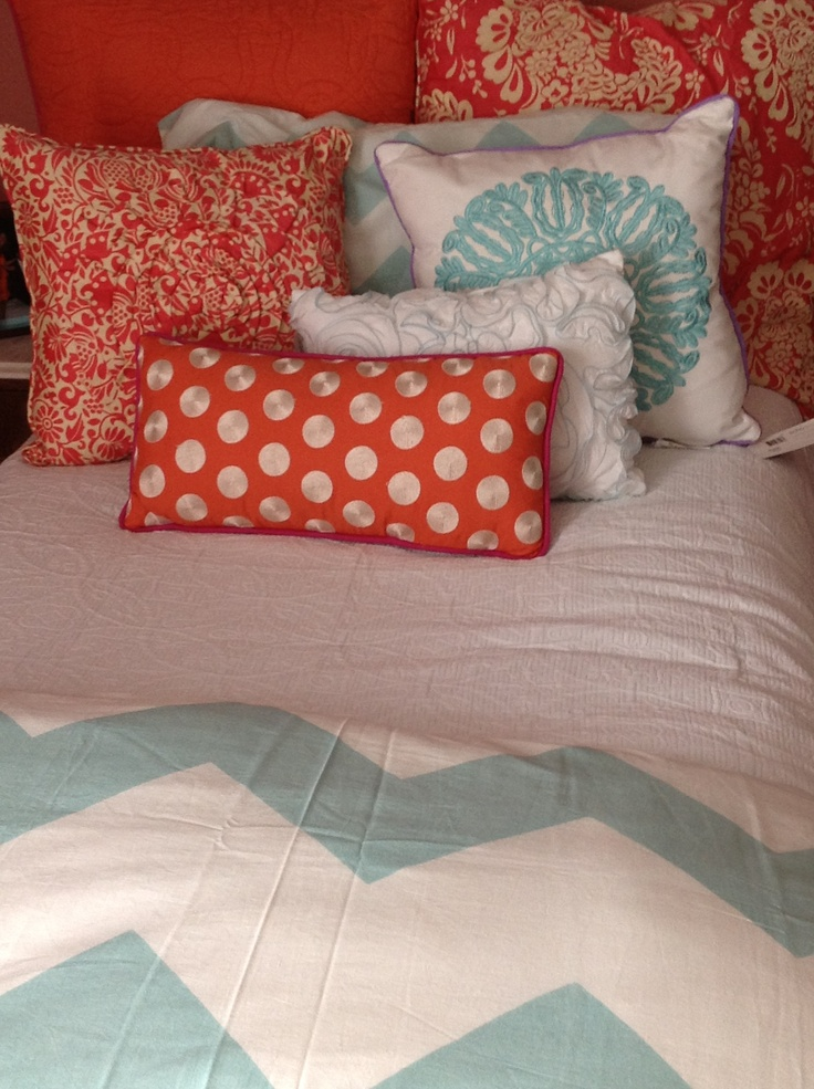 coral and mint dorm bedding  Dorm Decor  Pinterest  Urban outfitters Color combos and Colors