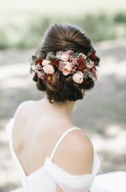 ideas bridal hair flowers