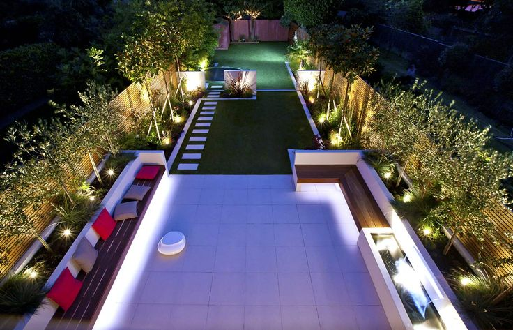 Long Narrow Garden Design Backyard Pinterest Gardens