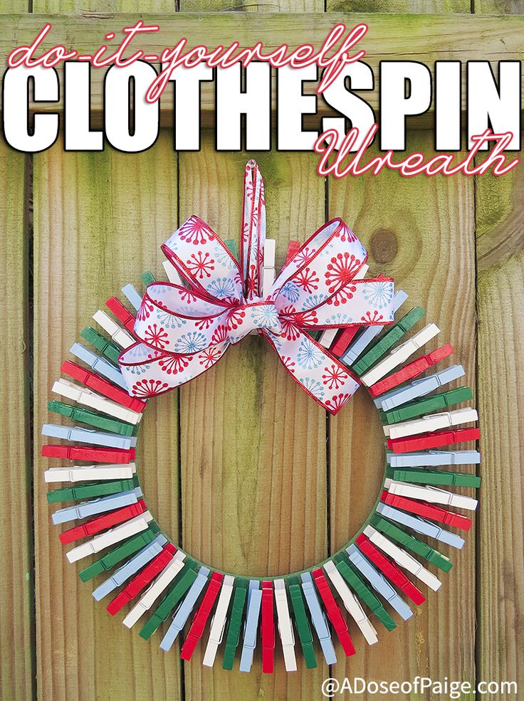 17 Best Images About Clothespin Wreath On Pinterest Fall