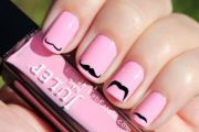 mustache nail art tutorials