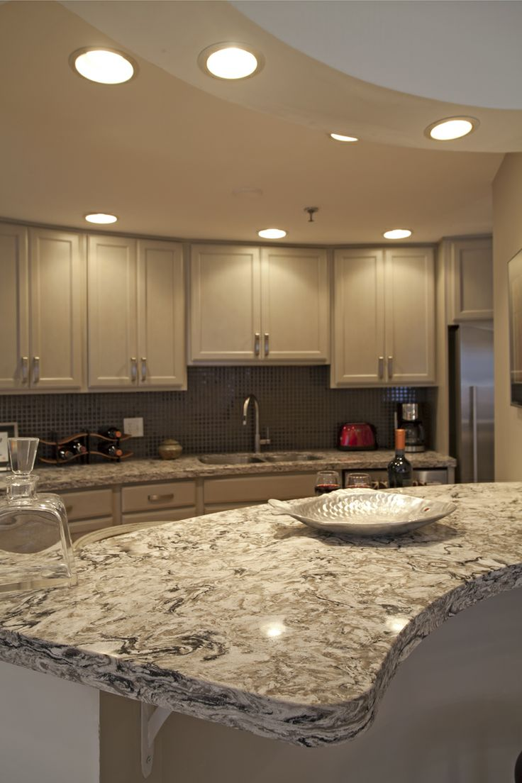 Cambria color Bellingham with 4cm profile edge  Kitchen Remodels  SpaceMakers Remodeling