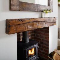 1000+ ideas about Oak Mantel on Pinterest | Fireplaces ...