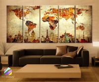 1000+ ideas about World Map Canvas on Pinterest | Large ...