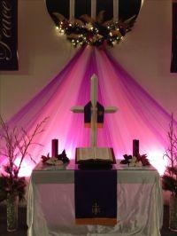 Advent and Christmas sanctuary decor   Sanctuary ...