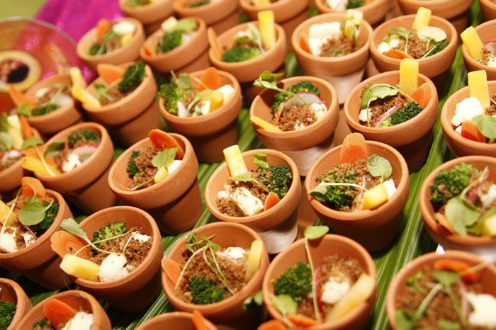 The Buffet's Offerings Included Miniature Flower Pots Filled With