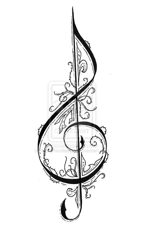 Treble Clef by HollyPendlebury.deviantart.com on
