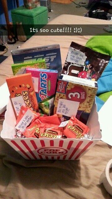 78 Best Ideas About Boyfriend Gift Basket On Pinterest