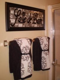 Best 25+ Bathroom towel display ideas on Pinterest