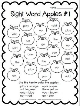 10 Best ideas about Sight Word Worksheets on Pinterest