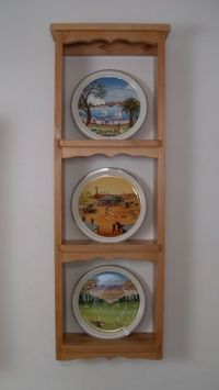 Plate holder, Wall plates and Wooden walls on Pinterest