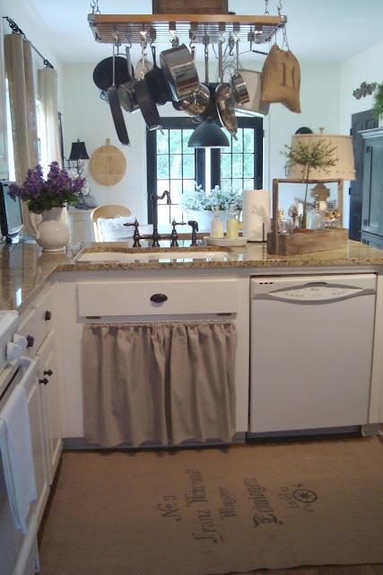 Farmhouse Kitchen Sink Skirt  Home Decor  Pinterest  Cottages Farmhouse kitchens and Sink skirt