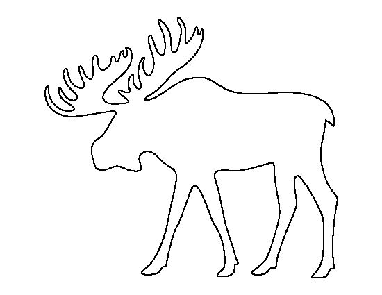 Moose pattern. Use the printable outline for crafts