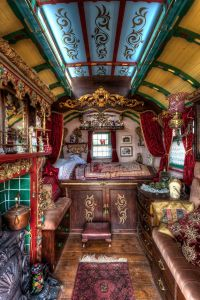 The inside of a traditional Roma gypsy caravan500px ...