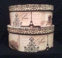 Paris themed hat boxes by Tri-Coastal Designs.   Hat boxes ...