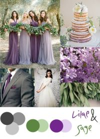 Lilac and Sage wedding color palette | Wedding Wishes ...