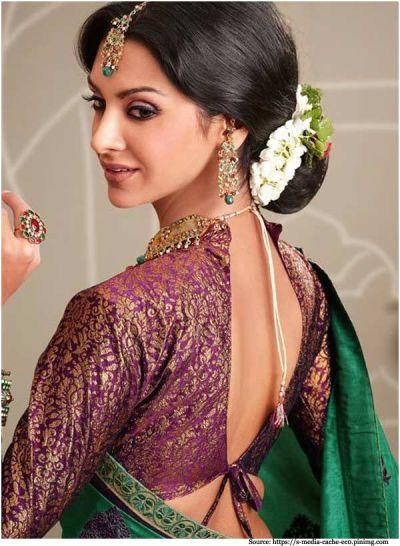 7 Banarasi Designer Blouses Designs | Banarasi Silk Saree ...