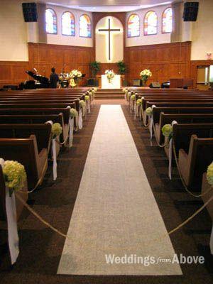 Simple Church Wedding Decorations  Wedding Ceremony