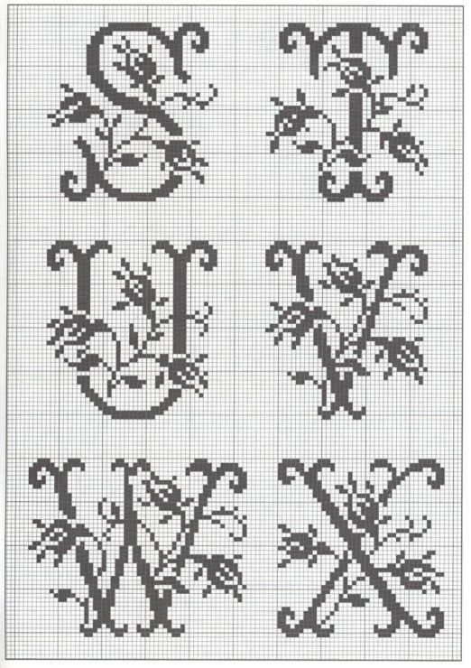 1000+ ideas about Monogram Cross Stitch on Pinterest