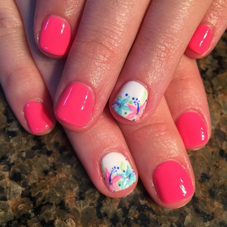 25+ Best Ideas about Hawaiian Flower Nails on Pinterest