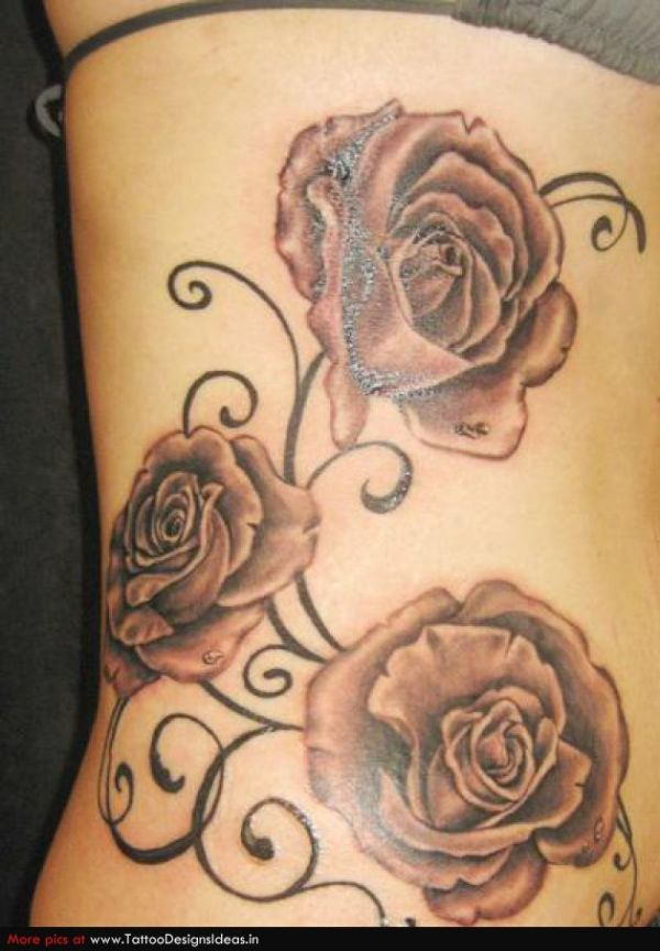 20 Vine Lilies And Roses Tattoos Ideas And Designs