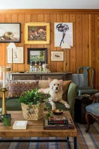 how to decorate with wood paneling knotty pine room