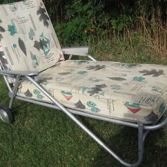 Lounge Chair Replacement Straps Steel Case Vintage Aluminum 1950 Chaise Lounge, I Have A Similar One In Turquoise Got For Free From ...